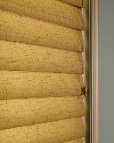 tan fabric blinds